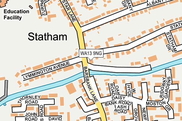 WA13 9NG map - OS OpenMap – Local (Ordnance Survey)