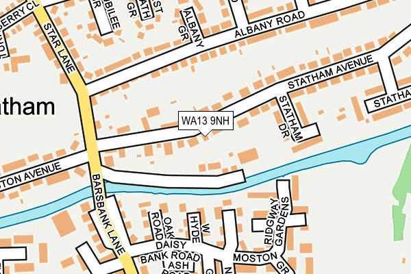 WA13 9NH map - OS OpenMap – Local (Ordnance Survey)