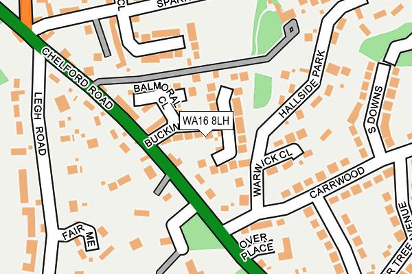 WA16 8LH map - OS OpenMap – Local (Ordnance Survey)