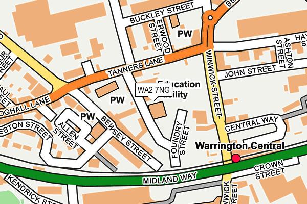 WA2 7NG map - OS OpenMap – Local (Ordnance Survey)