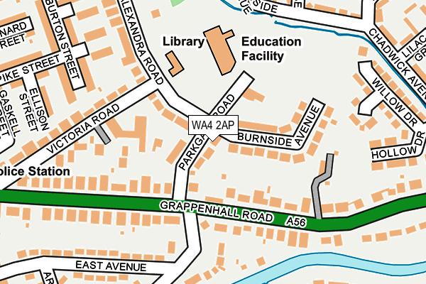 WA4 2AP map - OS OpenMap – Local (Ordnance Survey)