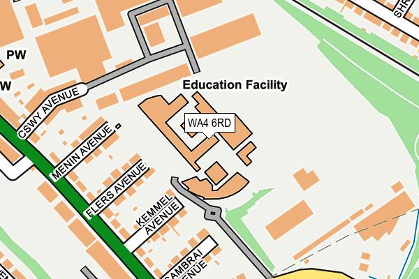 WA4 6RD map - OS OpenMap – Local (Ordnance Survey)
