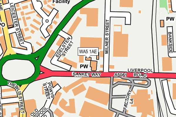WA5 1AE map - OS OpenMap – Local (Ordnance Survey)