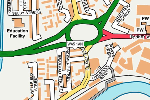 WA5 1AN map - OS OpenMap – Local (Ordnance Survey)