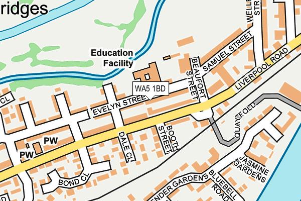 WA5 1BD map - OS OpenMap – Local (Ordnance Survey)