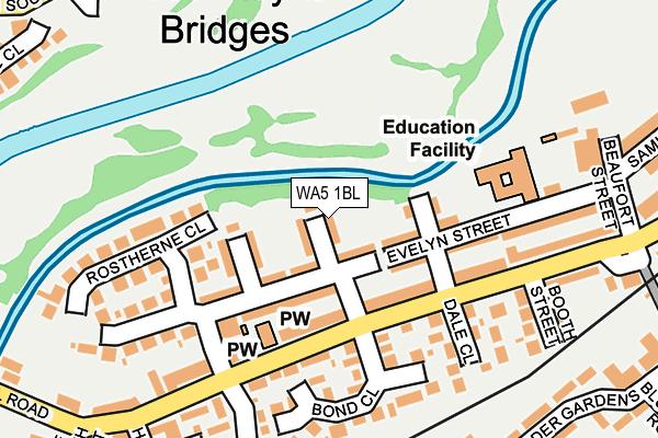 WA5 1BL map - OS OpenMap – Local (Ordnance Survey)