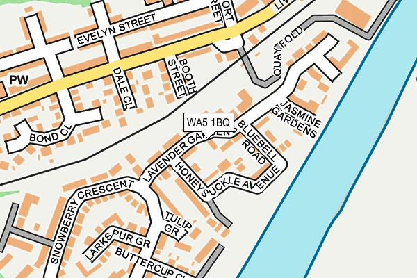 WA5 1BQ map - OS OpenMap – Local (Ordnance Survey)