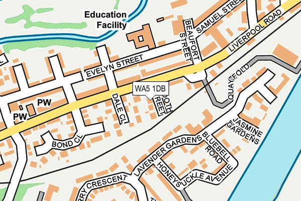 WA5 1DB map - OS OpenMap – Local (Ordnance Survey)