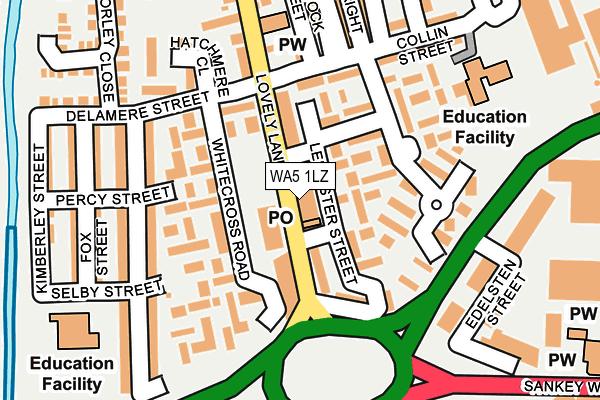 WA5 1LZ map - OS OpenMap – Local (Ordnance Survey)