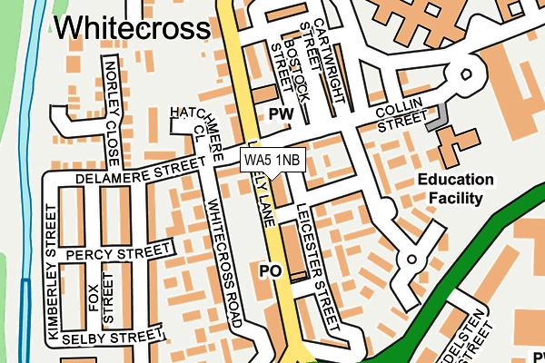 WA5 1NB map - OS OpenMap – Local (Ordnance Survey)