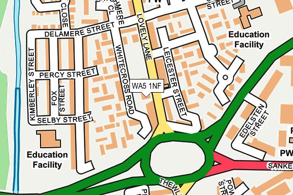 WA5 1NF map - OS OpenMap – Local (Ordnance Survey)