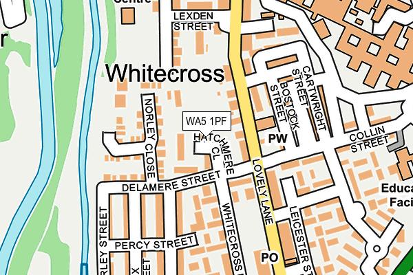 WA5 1PF map - OS OpenMap – Local (Ordnance Survey)