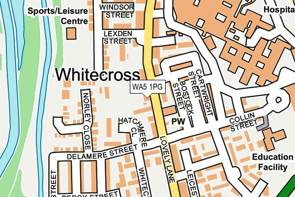 WA5 1PG map - OS OpenMap – Local (Ordnance Survey)