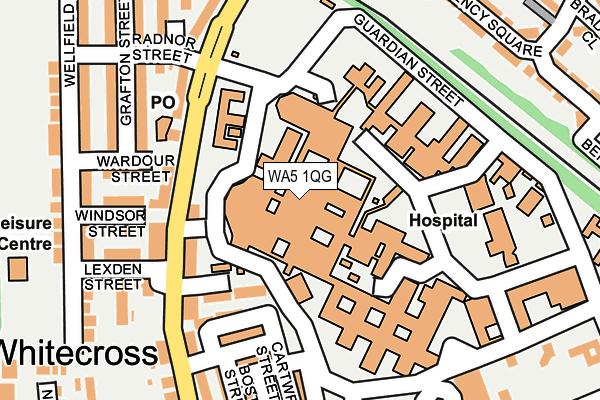 WA5 1QG map - OS OpenMap – Local (Ordnance Survey)
