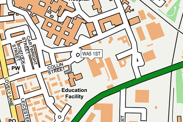 WA5 1ST map - OS OpenMap – Local (Ordnance Survey)