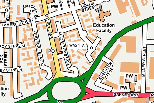 WA5 1TA map - OS OpenMap – Local (Ordnance Survey)