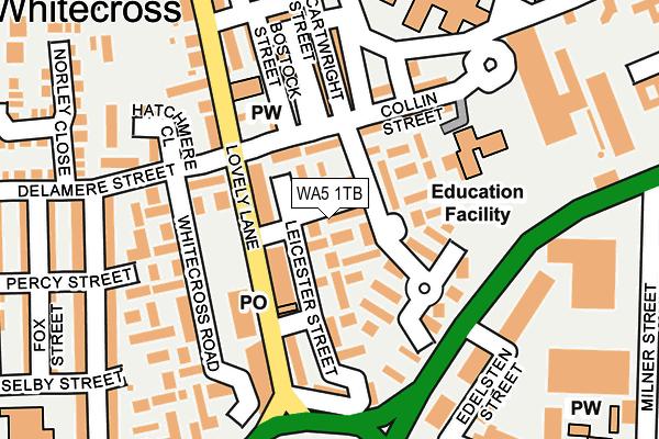 WA5 1TB map - OS OpenMap – Local (Ordnance Survey)
