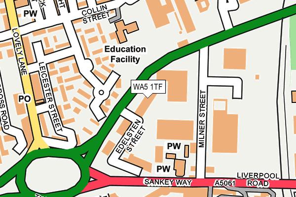 WA5 1TF map - OS OpenMap – Local (Ordnance Survey)