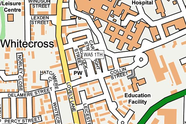 WA5 1TH map - OS OpenMap – Local (Ordnance Survey)