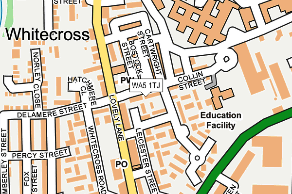 WA5 1TJ map - OS OpenMap – Local (Ordnance Survey)