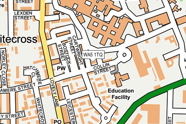 WA5 1TQ map - OS OpenMap – Local (Ordnance Survey)
