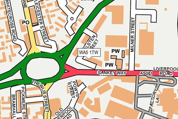 WA5 1TW map - OS OpenMap – Local (Ordnance Survey)