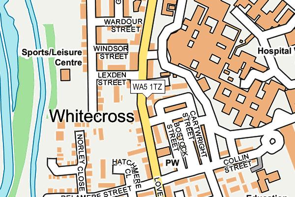 WA5 1TZ map - OS OpenMap – Local (Ordnance Survey)