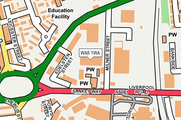 WA5 1WA map - OS OpenMap – Local (Ordnance Survey)