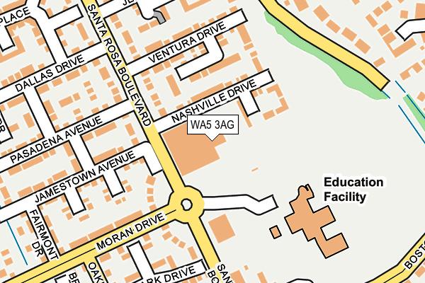WA5 3AG map - OS OpenMap – Local (Ordnance Survey)