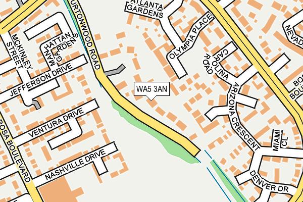 WA5 3AN map - OS OpenMap – Local (Ordnance Survey)