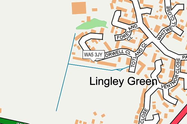 WA5 3JY map - OS OpenMap – Local (Ordnance Survey)