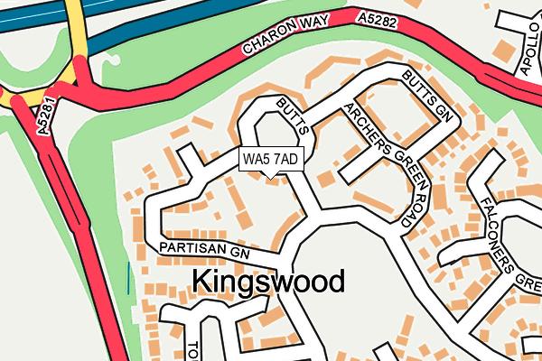 WA5 7AD map - OS OpenMap – Local (Ordnance Survey)