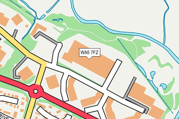 WA5 7FZ map - OS OpenMap – Local (Ordnance Survey)