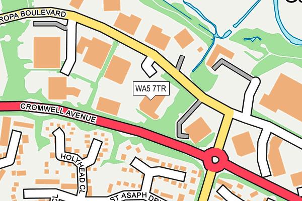 WA5 7TR map - OS OpenMap – Local (Ordnance Survey)