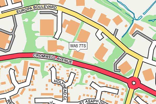 WA5 7TS map - OS OpenMap – Local (Ordnance Survey)