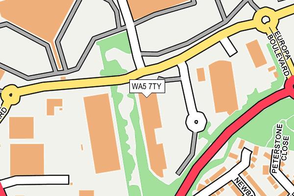 WA5 7TY map - OS OpenMap – Local (Ordnance Survey)