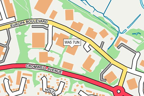 WA5 7UN map - OS OpenMap – Local (Ordnance Survey)