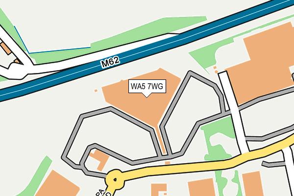 WA5 7WG map - OS OpenMap – Local (Ordnance Survey)