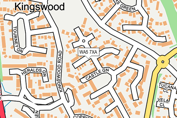 Map of AMERWOODS PROPERTIES LIMITED at local scale
