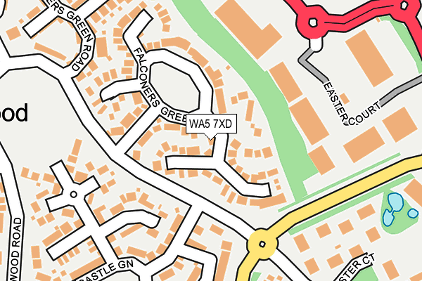 WA5 7XD map - OS OpenMap – Local (Ordnance Survey)
