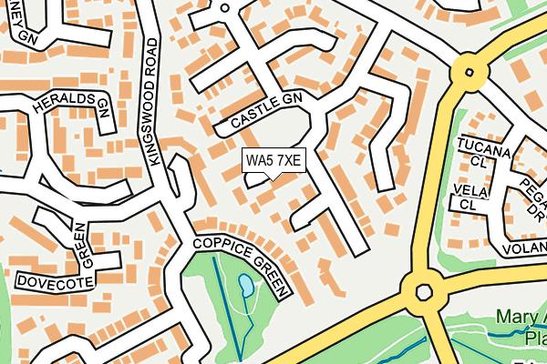 WA5 7XE map - OS OpenMap – Local (Ordnance Survey)