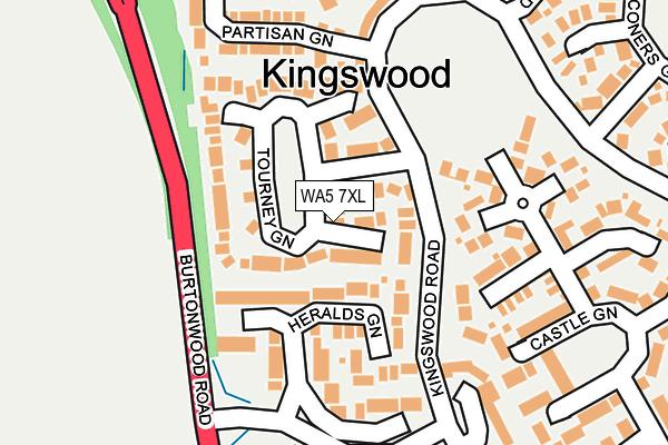 WA5 7XL map - OS OpenMap – Local (Ordnance Survey)