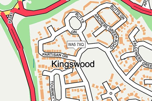 WA5 7XQ map - OS OpenMap – Local (Ordnance Survey)