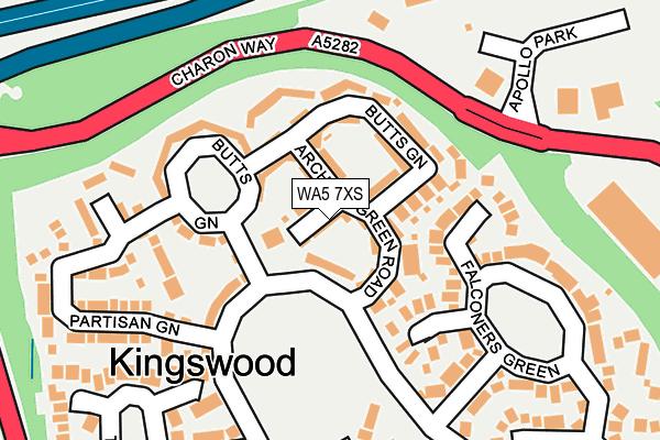 WA5 7XS map - OS OpenMap – Local (Ordnance Survey)