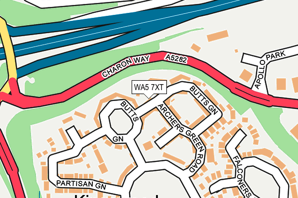 Map of TIDSWELLS LTD at local scale