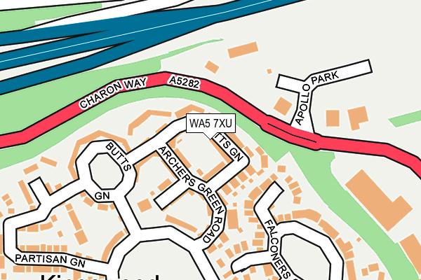 WA5 7XU map - OS OpenMap – Local (Ordnance Survey)