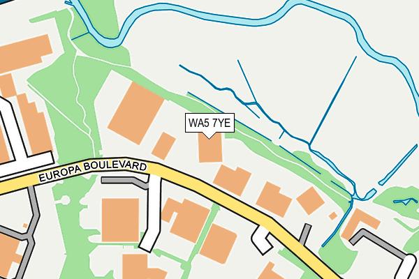 WA5 7YE map - OS OpenMap – Local (Ordnance Survey)