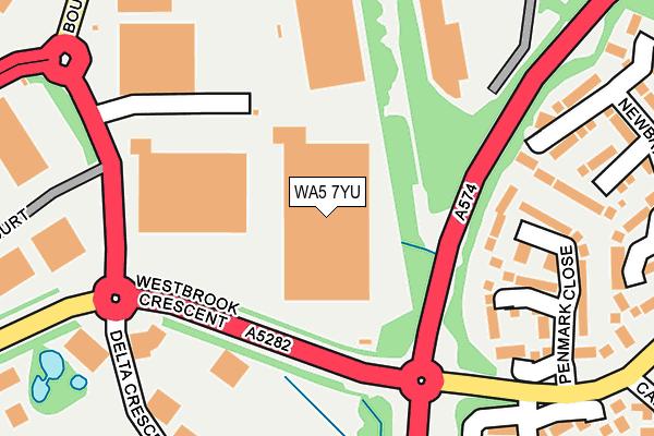 WA5 7YU map - OS OpenMap – Local (Ordnance Survey)