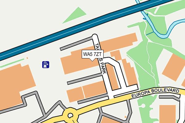 WA5 7ZT map - OS OpenMap – Local (Ordnance Survey)