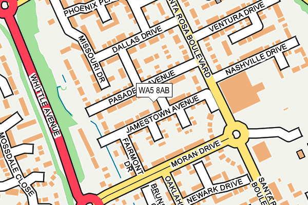 WA5 8AB map - OS OpenMap – Local (Ordnance Survey)